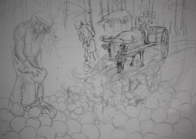 Coconut Harvest - Preliminary Sketch