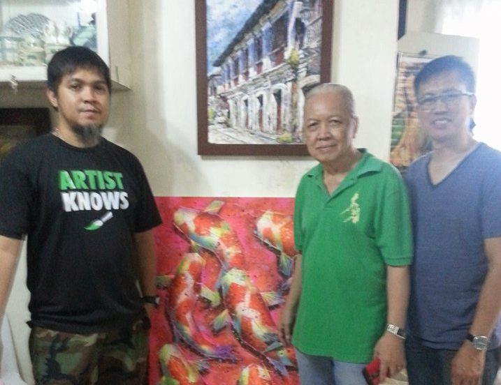 Jun Afable with Janddie and Maestro Nelson Castillo