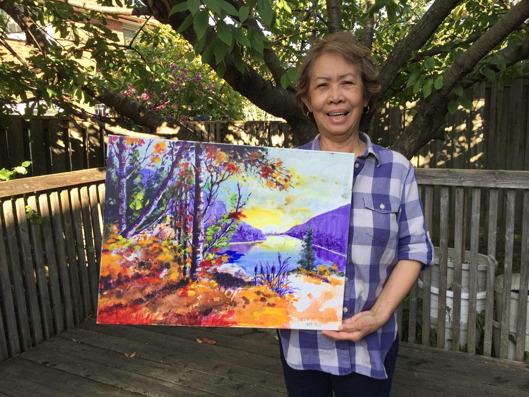 Original painting by Nelia Tonido - Winner: Roani Amitrano