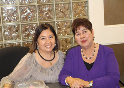Debbie Gatan and Tita Necie