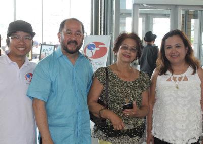 Jhun Diamante, Senator Jun Enverga with friend and Rosemer Enverga - Philippine Artists Group of Canada PAG at Fiesta Ng Kalayaan Mississauga 2017