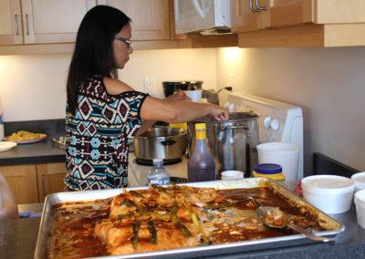 Judy at kitchen