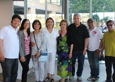 Jhun, Judy, Eve, Tonie, Nelia, Frank, Gene and Romi at Fiesta Ng Kalayaan Mississauga 2017
