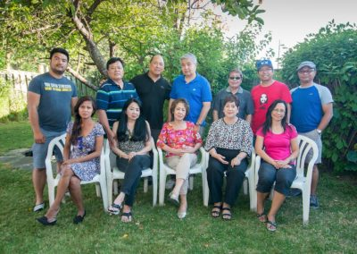 Standing: Mark Edison Salinas, Frank Cruzet, Dong Magalona, Frank Tonido - Vice President, Maestro Romi C. MananQuil - Founder, Jhun Ciolo Diamante, Gene Lopos - Current President ; Seated: Joanne, Theresa, Nelia - Former President, Necie and Judy; Photo by Dong Magalona