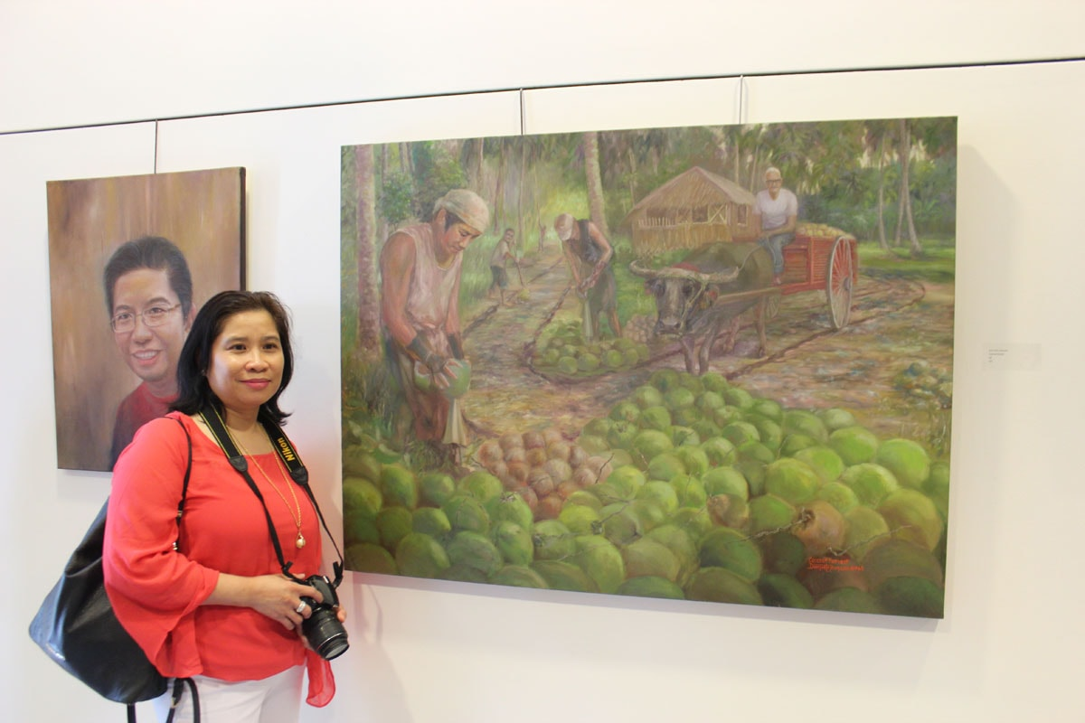 Amor with Jhun's painting - Iniibig ko ang Pilipinas