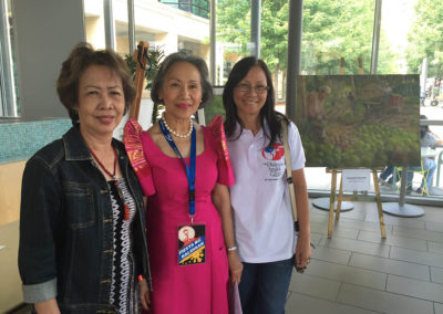 Nelia, Rodel and Judy at Fiesta Kalayaan 2016