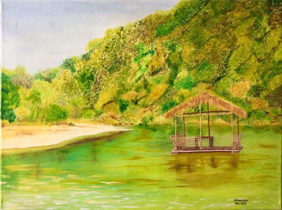 Dr Marinor Blanco - Floating Hut 18x24 oil on canvas