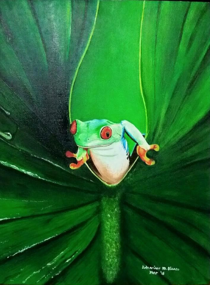 Dr Marinor - Blanco My frog prince 12x16 oil