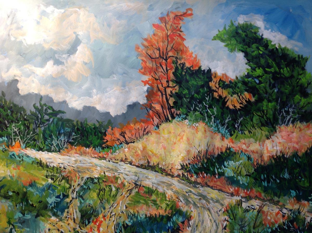 Frank Cruzet - Alberta Fall Season; 22x28, acrylic on board