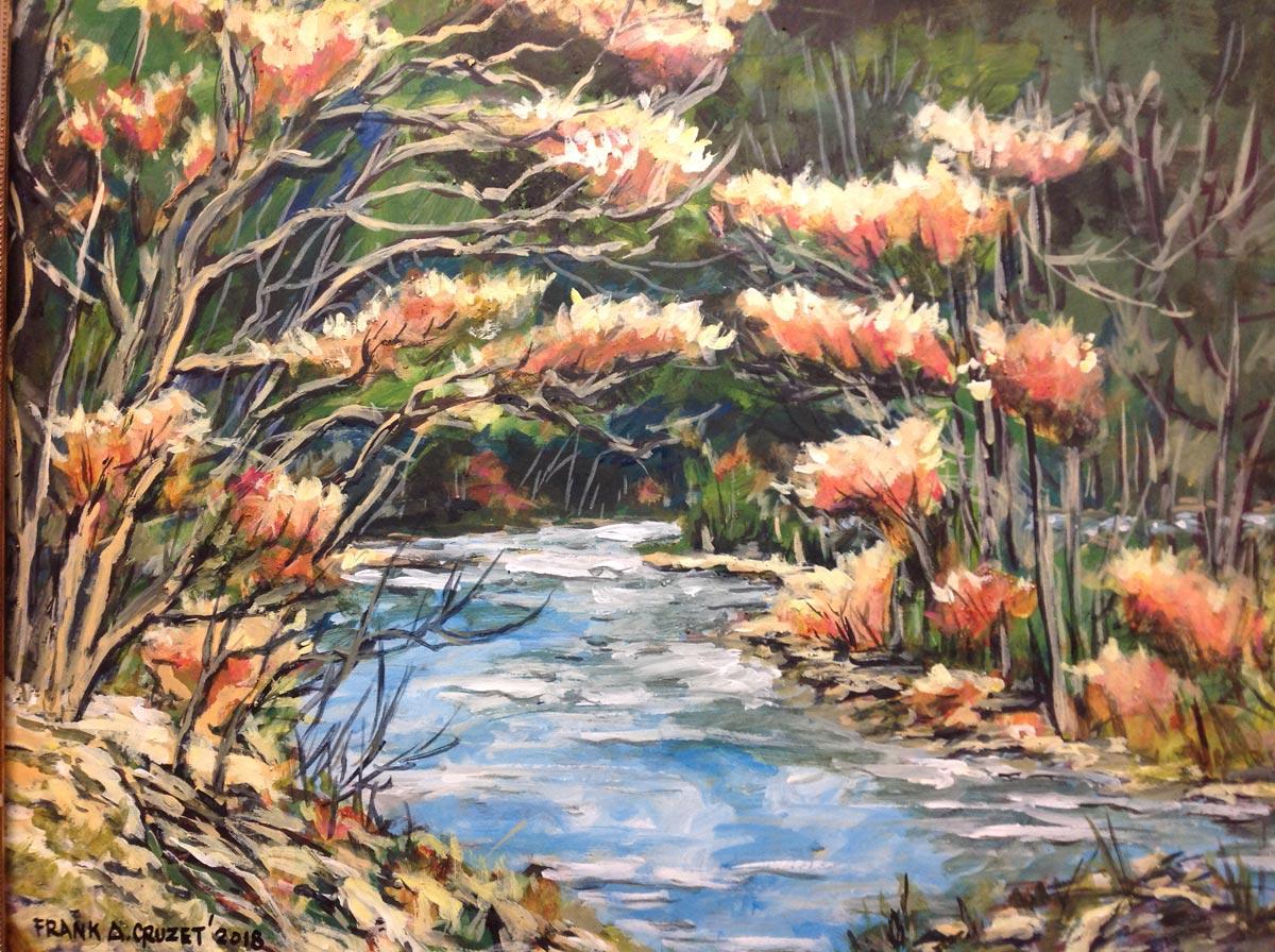 Frank Cruzet - Glen Rouge River; 22x28, acrylic on board
