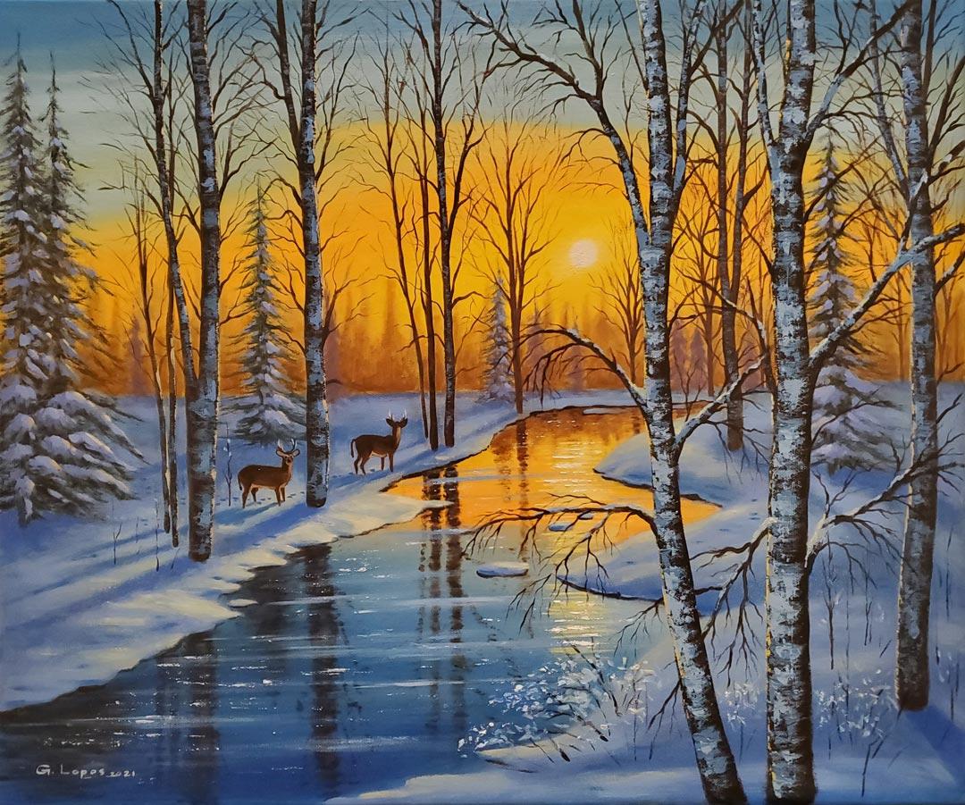 Winter Scene 1 by Gene Lopos