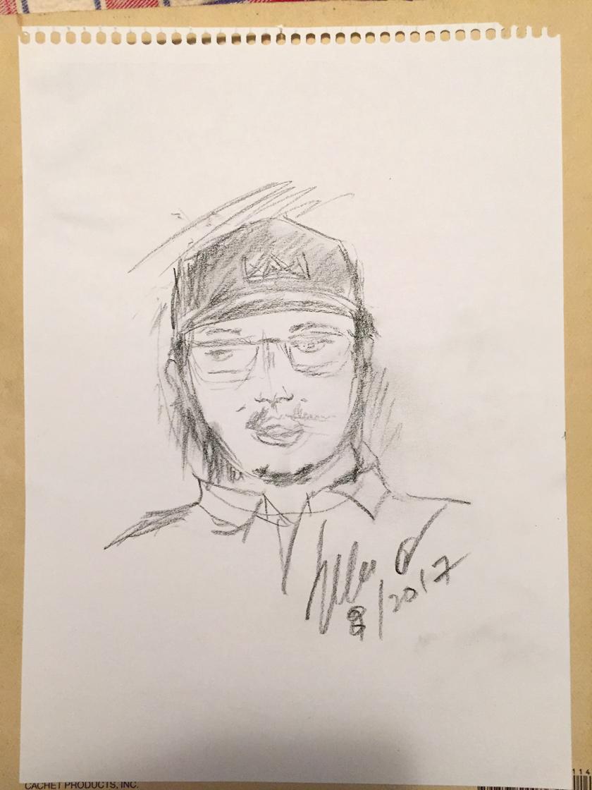 Portrait of Jhun Diamante by Senator Jun Enverga