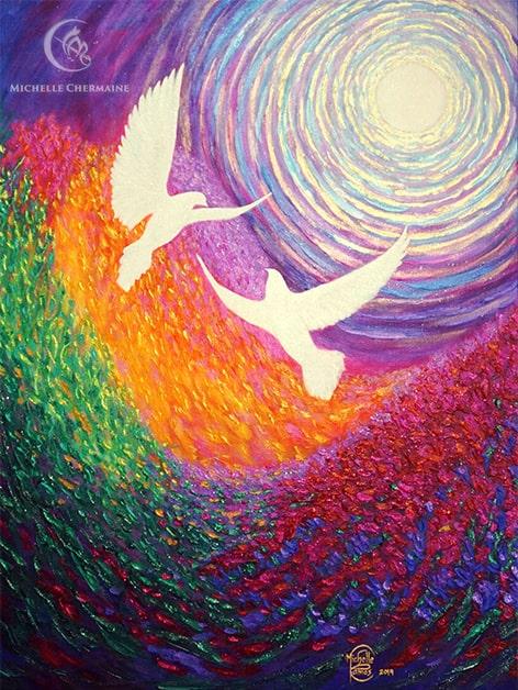 Moonlit Aerial Dance by Michelle Chermaine Ramos
