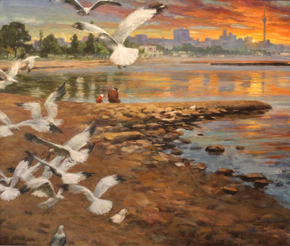Lakeshore MorningLabahan sa Batis by Romi MananQuil