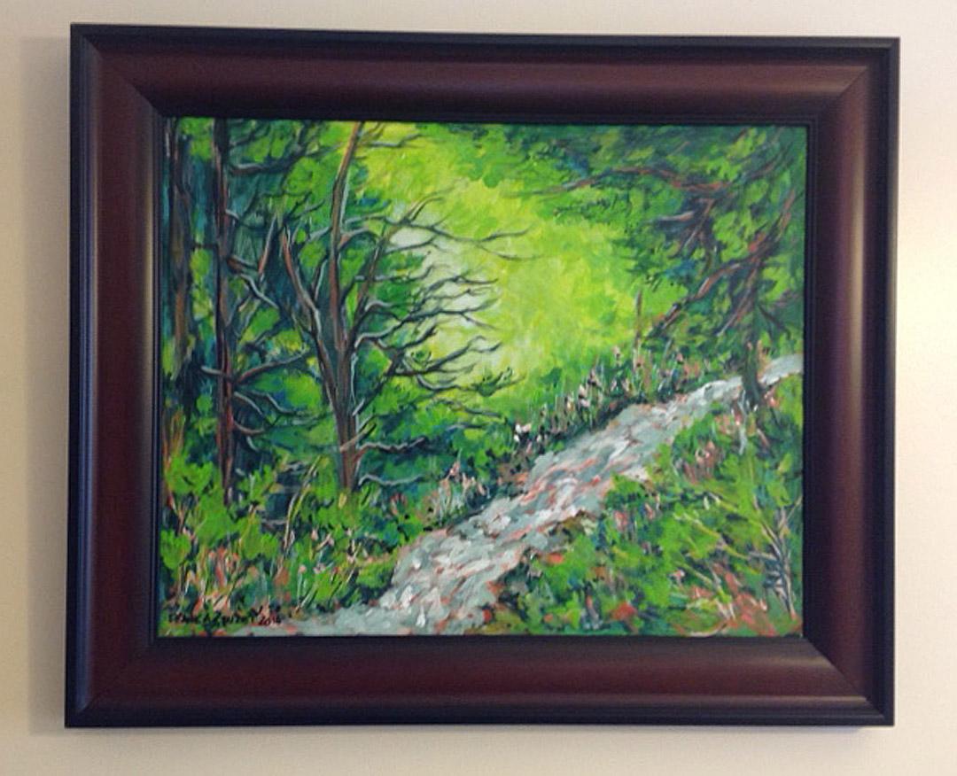 Original painting by Frank Cruzet - Winner: Mary Ann San Juan